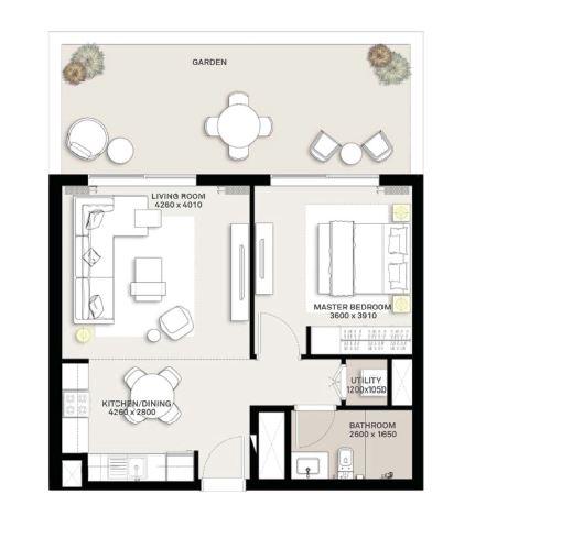emaar executive residences apartment 1bhk 883sqft101