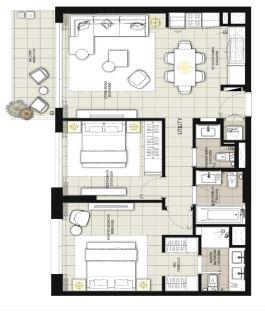 emaar expo golf villas phase 5 villa 2 bhk 1000sqft 20203918163948