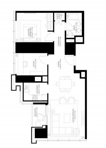 emaar forte apartment 1 bhk 1041sqft 20200017130031
