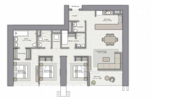 emaar forte apartment 3 bhk 1621sqft 20204817124846