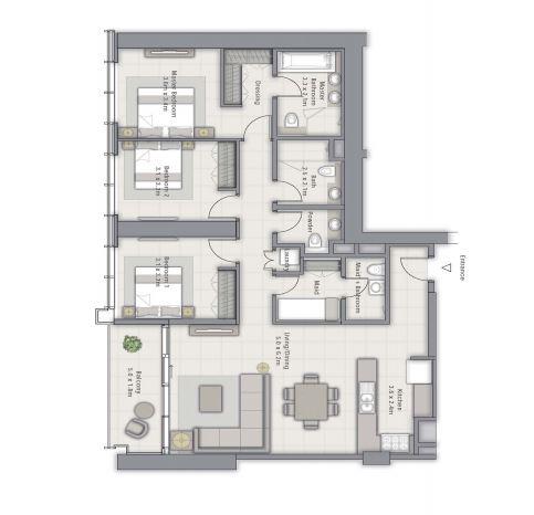 emaar forte apartment 3 bhk 1642sqft 20204817124824