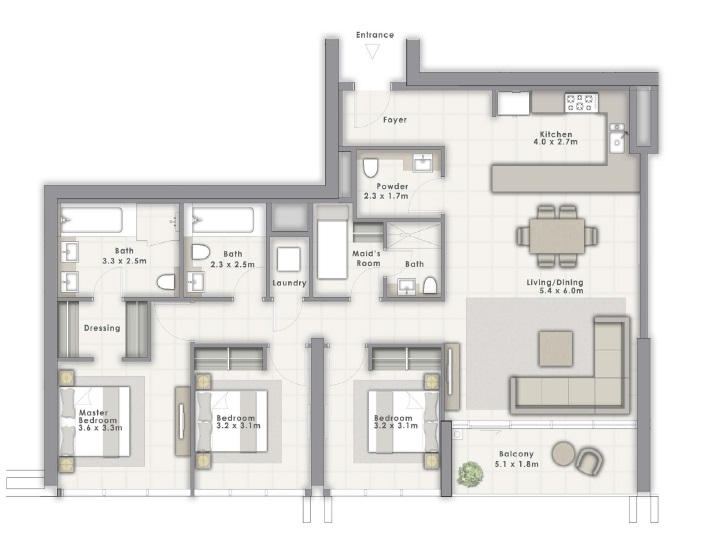 emaar forte apartment 3 bhk 1672sqft 20204017124029