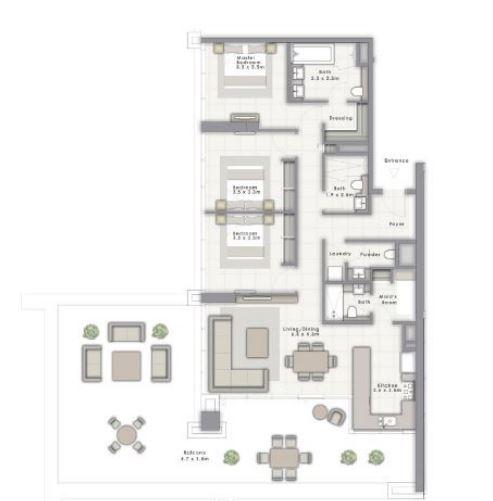 emaar forte apartment 3 bhk 2329sqft 20204917124924