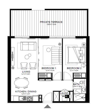 emaar golf ville apartment 2bhk 1028sqft341