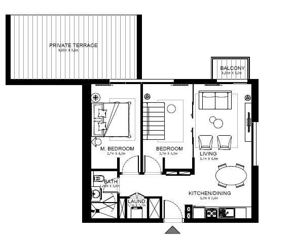 emaar golf ville apartment 2bhk 1029sqft341