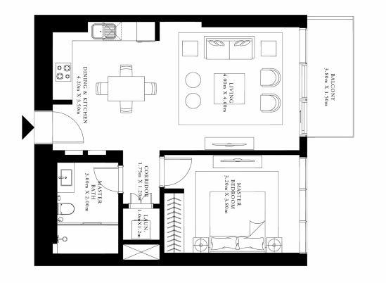 emaar grand bleu tower apartment 1 bhk 789sqft 20204914164934