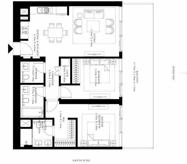 emaar grand bleu tower apartment 2 bhk 1252sqft 20205114165150