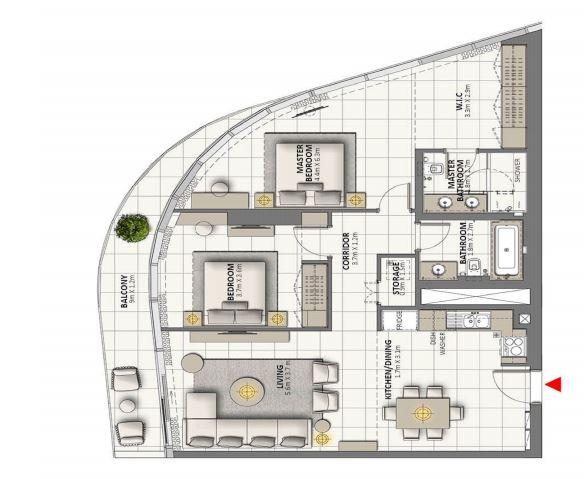 emaar grande signature residences apartment 2 bhk 1343sqft 20202214152212