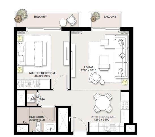 emaar green square apartment 1bhk 645sqft01