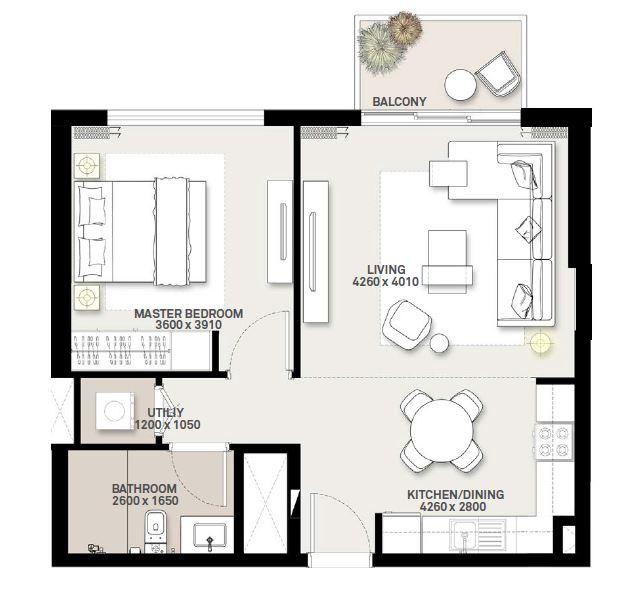 emaar green square apartment 1bhk 647sqft21