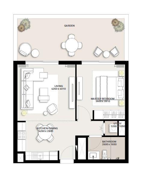 emaar green square apartment 1bhk 878sqft141