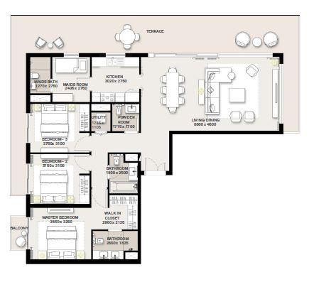 emaar green square apartment 3bhk 2241sqft441