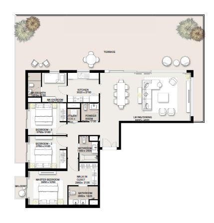 emaar green square apartment 3bhk 2535sqft451