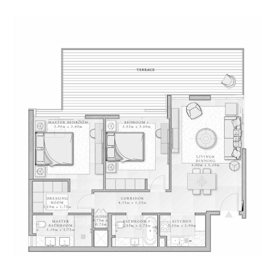 emaar mina rashid sirdhana apartment 2bhk 1322sqft211