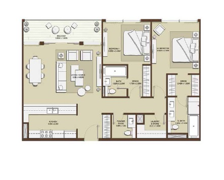 emaar mulberry park heights apartment 2bhk 1296sqft31