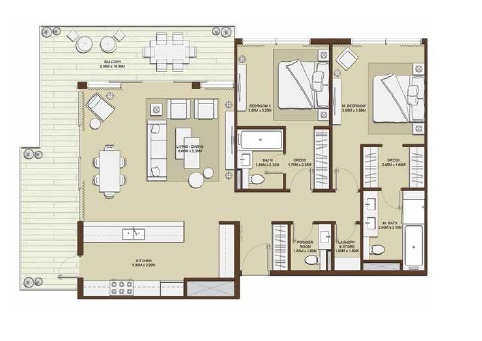 emaar mulberry park heights apartment 2bhk 1603sqft61