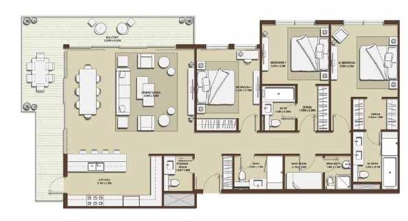 emaar mulberry park heights apartment 3bhk 1959sqft101