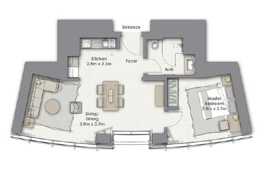 emaar opera grand apartment 1bhk 731sqft61