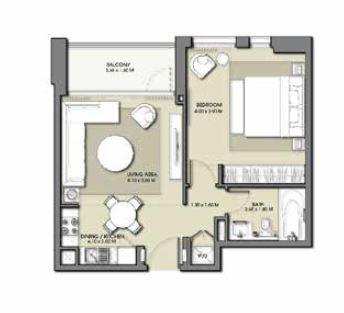 emaar park point apartment 1bhk 636sqft31