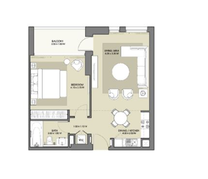 emaar park point apartment 1bhk 653sqft31