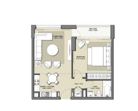 emaar park point apartment 1bhk 677sqft71