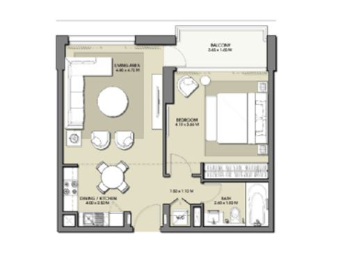 emaar park point apartment 1bhk 691sqft91