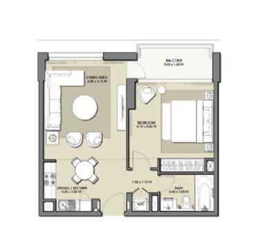 emaar park point apartment 1bhk 692sqft101