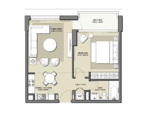 emaar park point apartment 1bhk 694sqft121