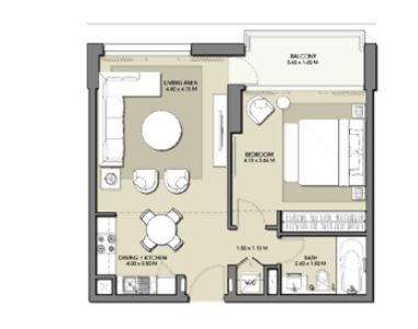 emaar park point apartment 1bhk 697sqft131