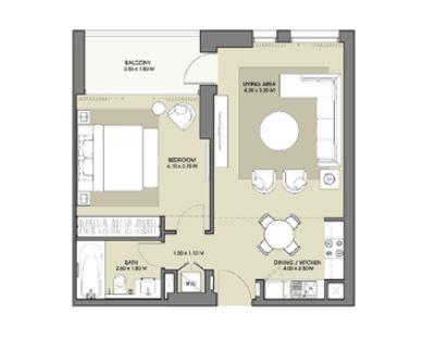 emaar park point apartment 1bhk 723sqft151