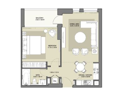 emaar park point apartment 1bhk 726sqft161