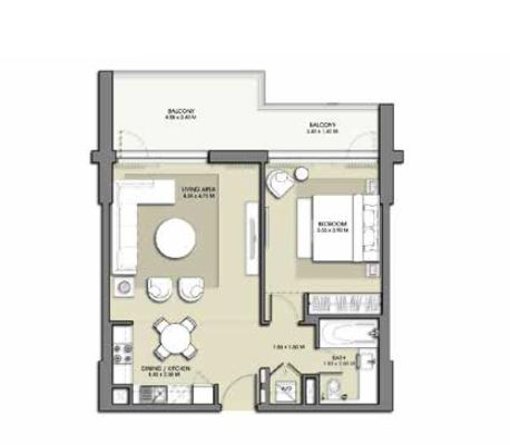 emaar park point apartment 1bhk 859sqft201