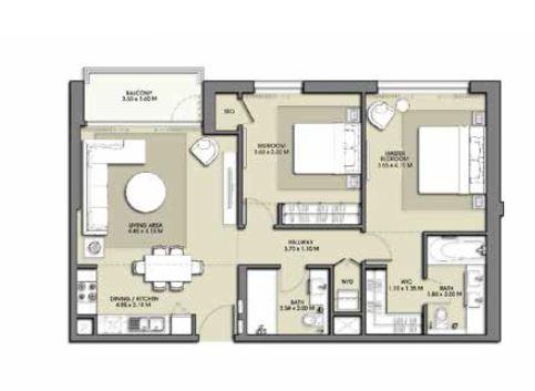emaar park point apartment 2bhk 1028sqft341