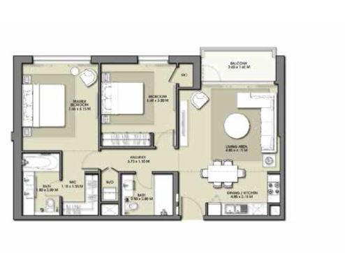emaar park point apartment 2bhk 1030sqft351