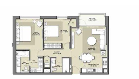 emaar park point apartment 2bhk 1040sqft371