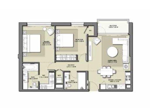 emaar park point apartment 2bhk 1042sqft381
