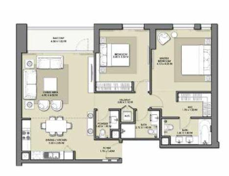 emaar park point apartment 2bhk 1213sqft421