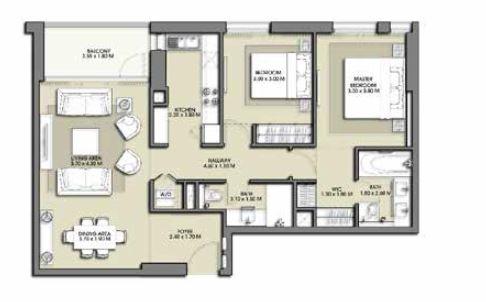 emaar park point apartment 2bhk 998sqft281