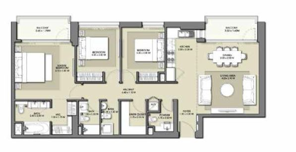 emaar park point apartment 3bhk 1326sqft581