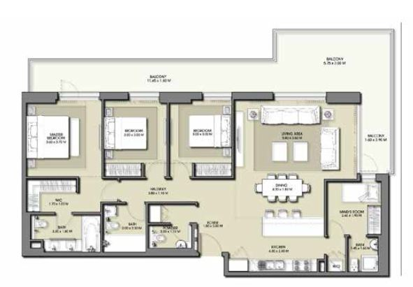 emaar park point apartment 3bhk 1877sqft841