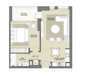 emaar park point dubai hills apartment 1bhk 726sqft61