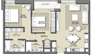 emaar park point dubai hills apartment 2bhk 1013sqft91
