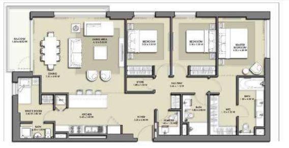 emaar park point dubai hills apartment 3bhk 1615sqft171