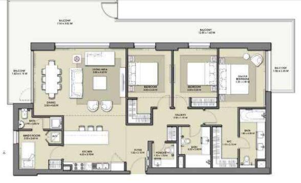 emaar park point dubai hills apartment 3bhk 2095sqft221
