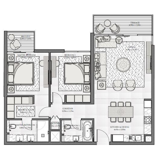 emaar seashore apartment 2bhk 1151sqft11