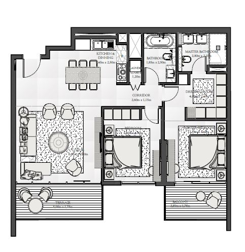 emaar seashore apartment 2bhk 1232sqft51