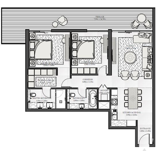 emaar seashore apartment 2bhk 1412sqft101