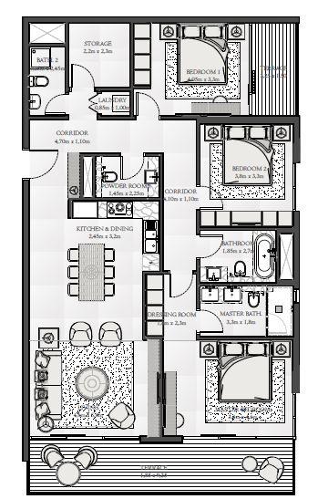 emaar seashore apartment 3bhk 1676sqft171