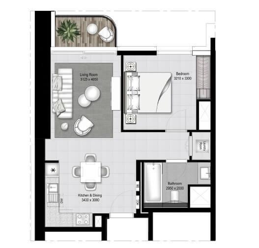 emaar south beach apartment 1bhk 653sqft11