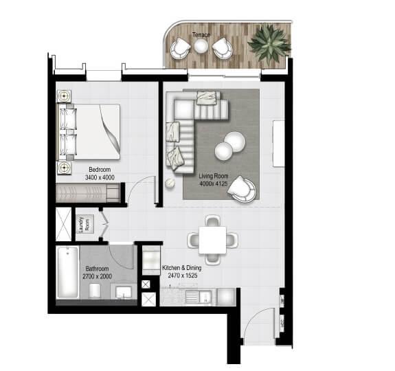 emaar south beach apartment 1bhk 747sqft41